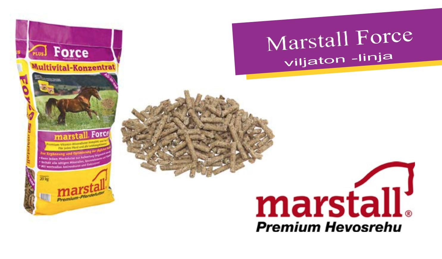 Uudistunut Marstall Force – viljaton kivennäisrehu